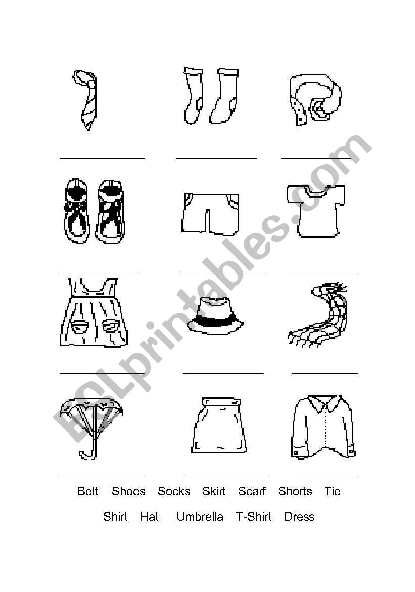 Image Result For Worksheet Clothes Reading