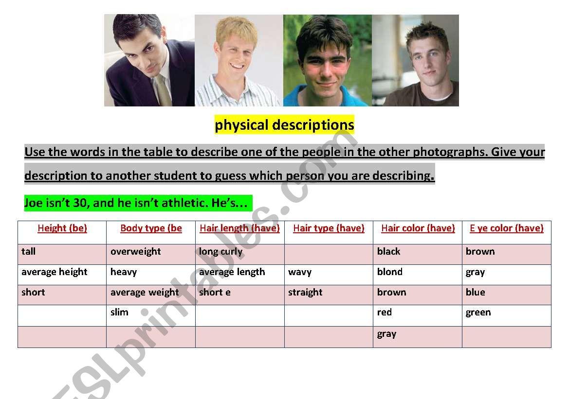 Physical Descriptions