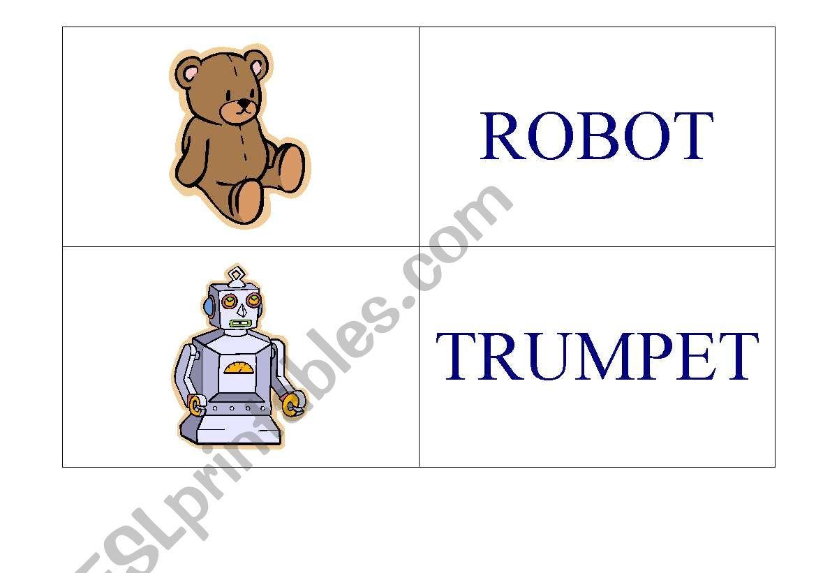 English Worksheets Toys