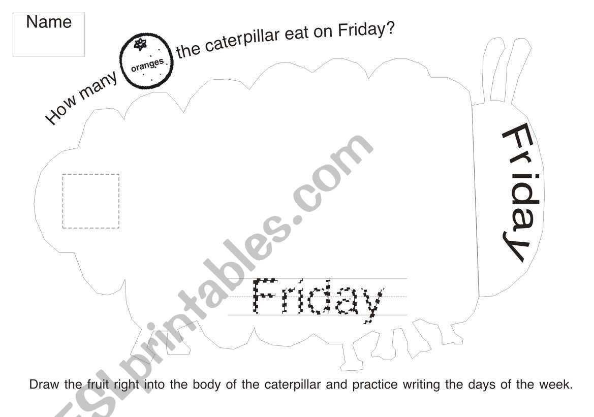 The Very Hungry Caterpillar Worksheet 5