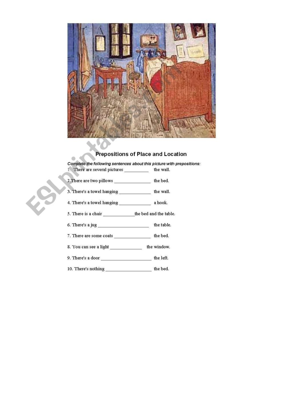 medium resolution of French Prepositions Of Location Worksheet   Printable Worksheets and  Activities for Teachers