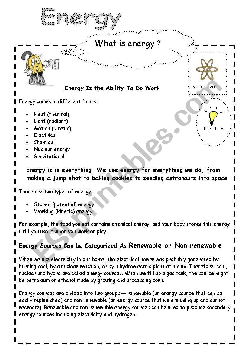 hight resolution of energy and electricity - ESL worksheet by cornelia.agnes