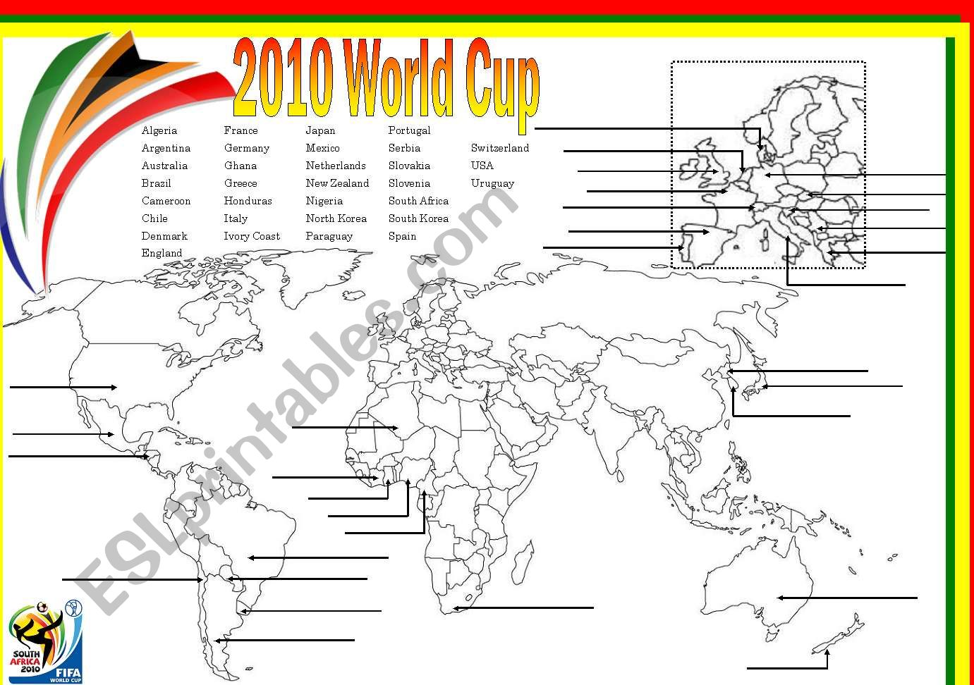 World Cup Map