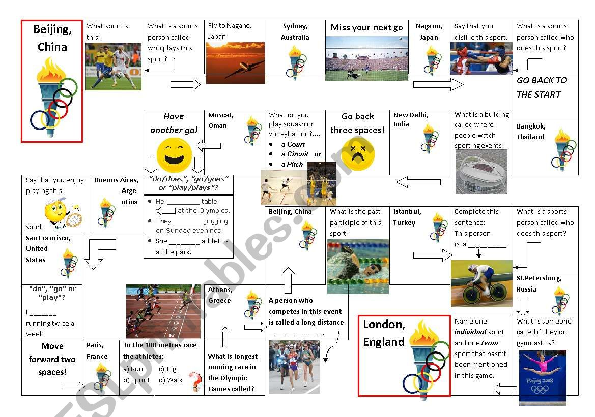 Olympics Reading Worksheet