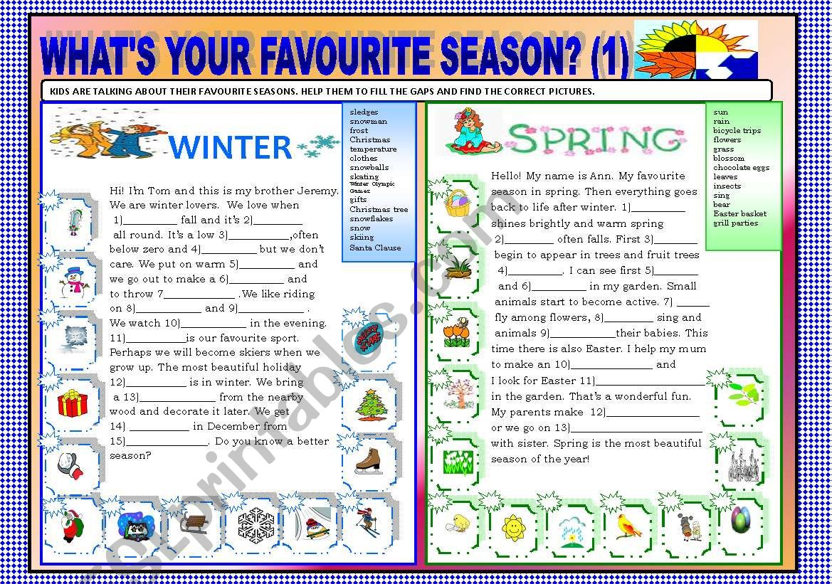 What S Your Favourite Season Part 1