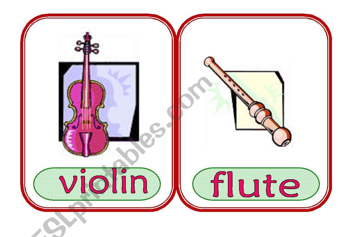 Music Instrument Flash Card