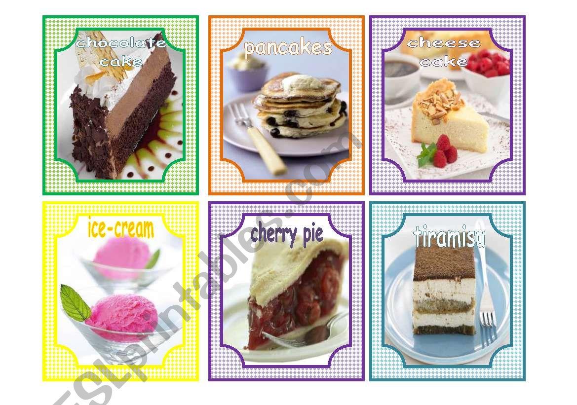 Desserts Flashcards