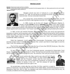 Abraham Lincoln´s biograohy - ESL worksheet by yamnef [ 1169 x 821 Pixel ]