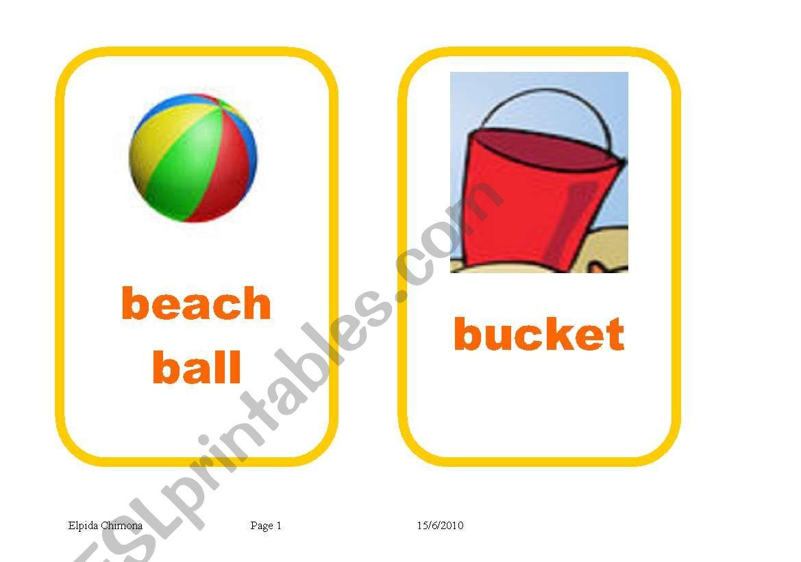 Summer Holidays Flashcards Editable