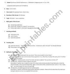 Lesson plan - My Body - ESL worksheet by mateuszgreloch [ 1169 x 821 Pixel ]