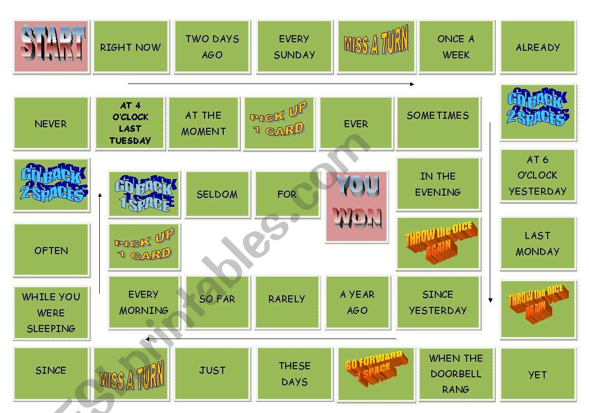 Tense Revision Board Game