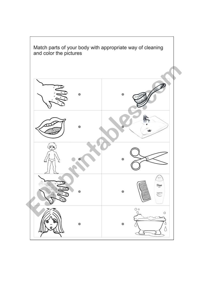 Amazing Personal Hygiene Worksheets For Kids Level 2