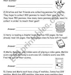 math word problems - ESL worksheet by noonninhell [ 1169 x 821 Pixel ]