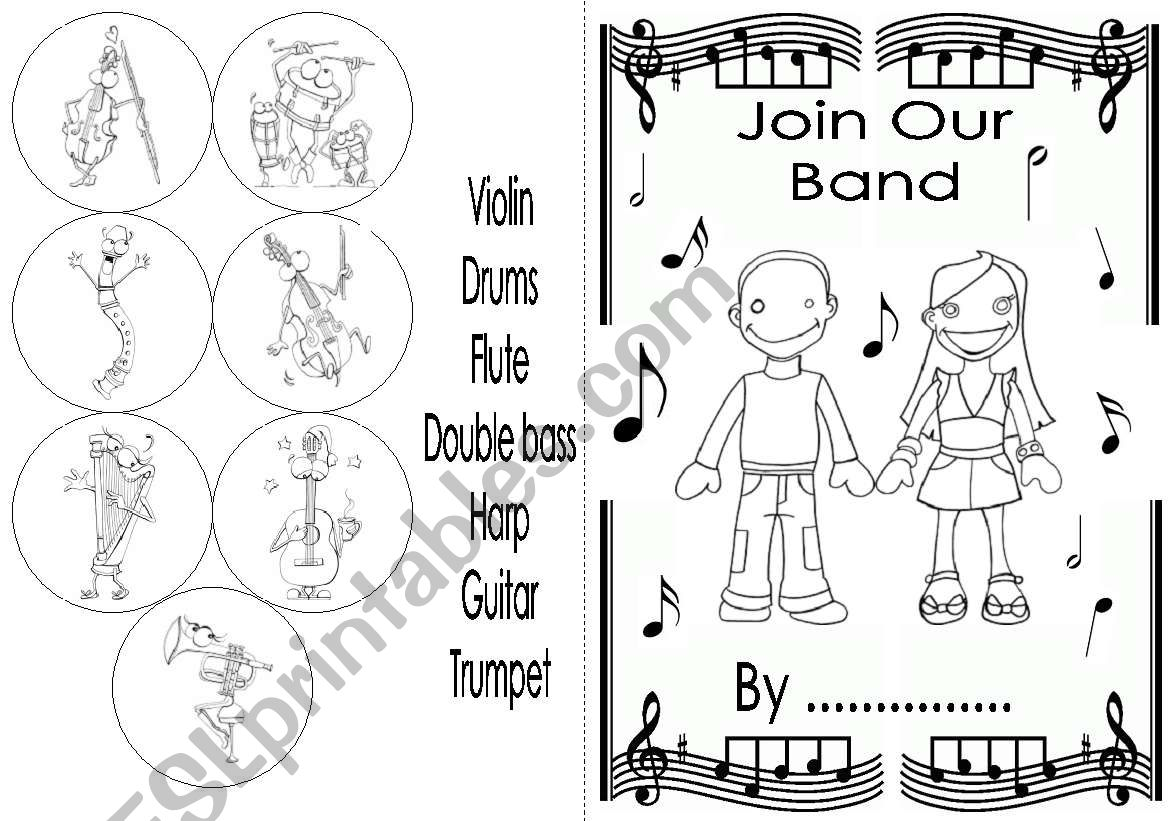 Join Our Band Mini Book
