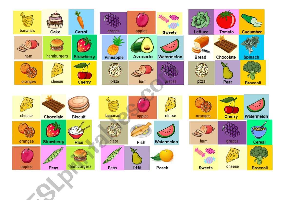 Food Bingo 2