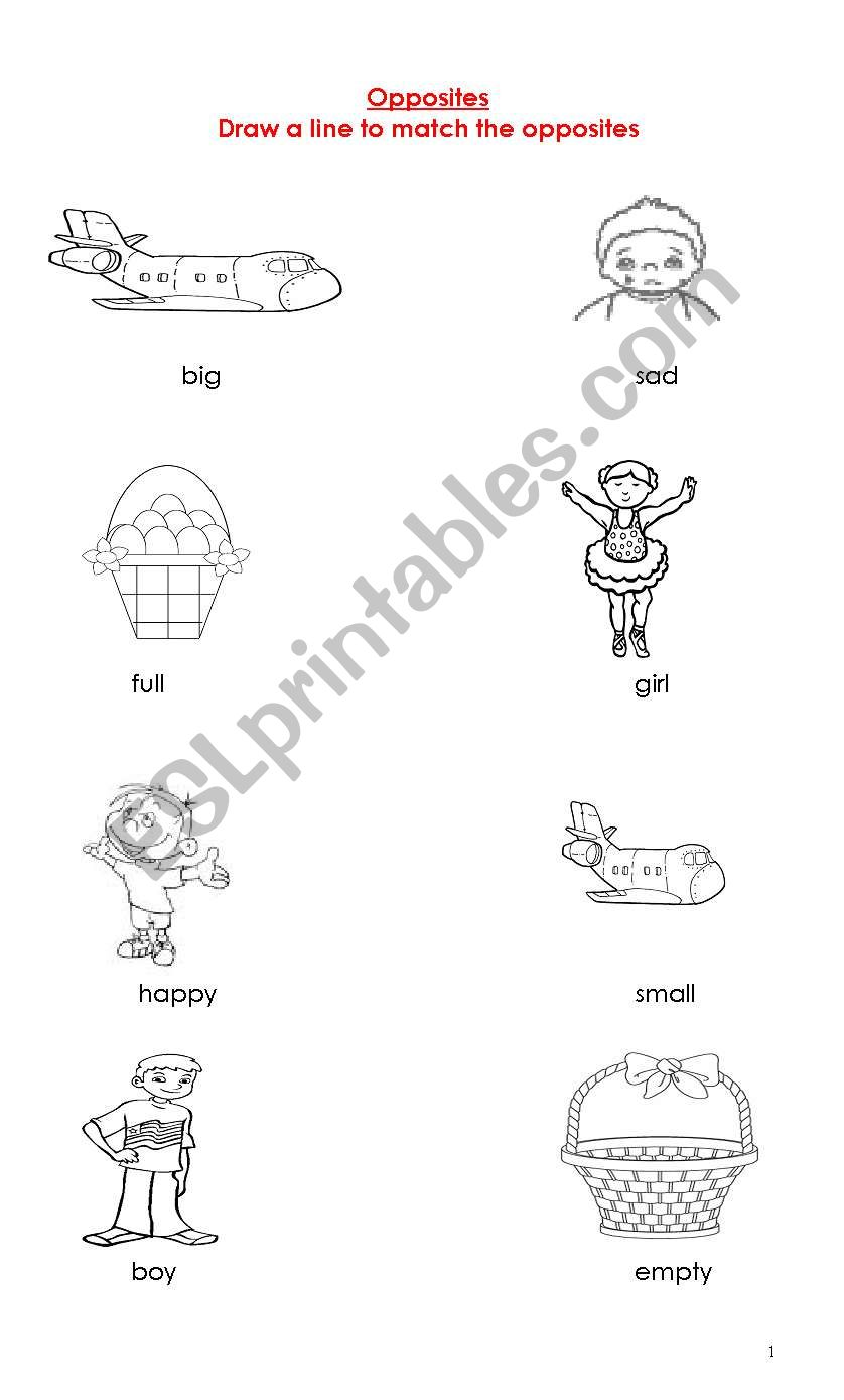 English worksheets: Find the Opposite!