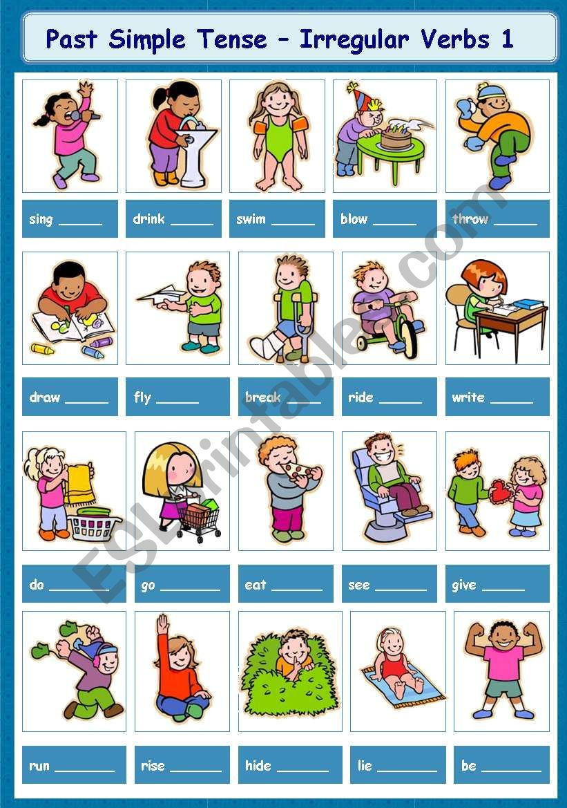 hight resolution of Past Simple Tense - Irregular Verbs 1-5 - ESL worksheet by tinawu8