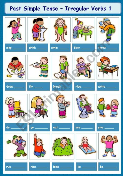 small resolution of Past Simple Tense - Irregular Verbs 1-5 - ESL worksheet by tinawu8