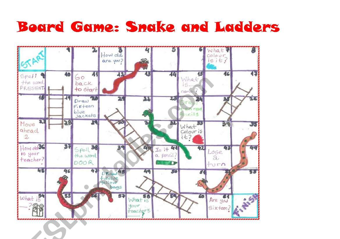 Board Game Snakes And Ladders