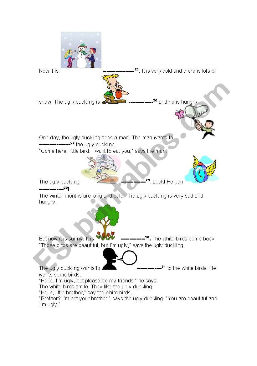 English worksheets: The Ugly Duckling