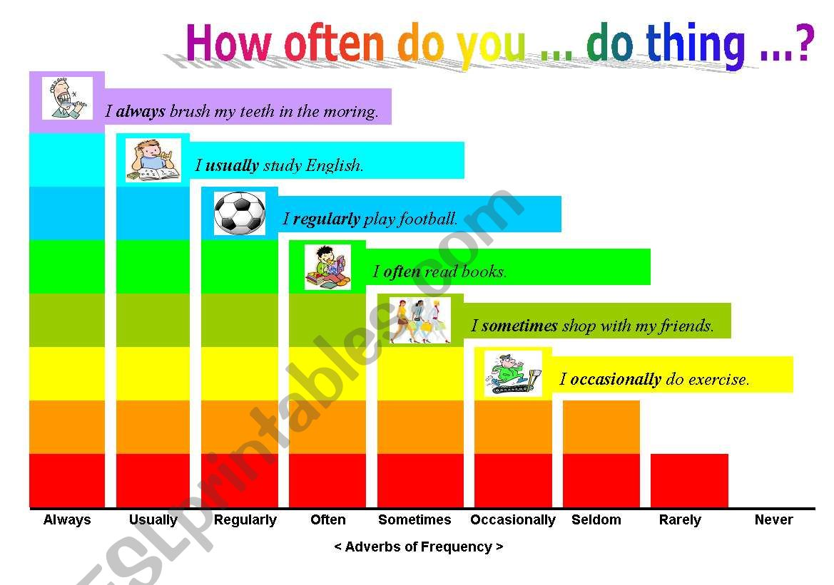 Frequency Adverbs With Exercise 3 Pages