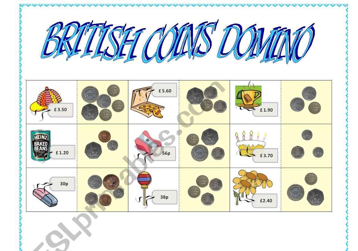Domino British Coins
