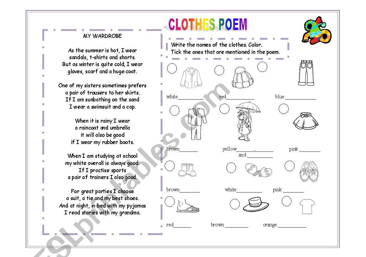 Clothes Poem