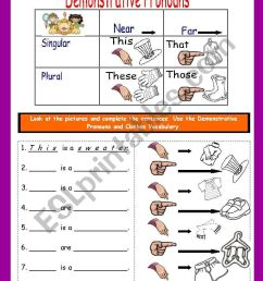 DEMONSTRATIVE PRONOUNS WITH CLOTHES - ESL worksheet by fortina99 [ 1169 x 821 Pixel ]