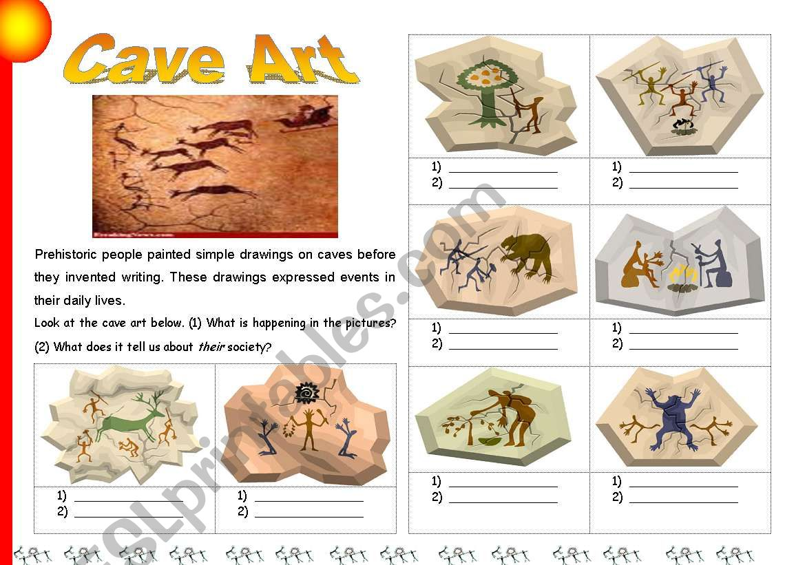 Cave Painting Worksheets