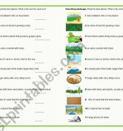 Landscape Worksheet For Art   Printable Worksheets and Activities for  Teachers [ 821 x 1169 Pixel ]