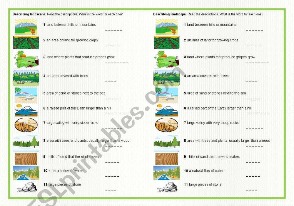 medium resolution of Landscape Worksheet For Art   Printable Worksheets and Activities for  Teachers