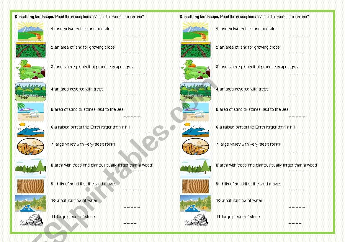 hight resolution of Landscape Worksheet For Art   Printable Worksheets and Activities for  Teachers