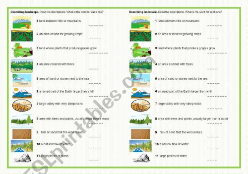 small resolution of Landscape Worksheet For Art   Printable Worksheets and Activities for  Teachers