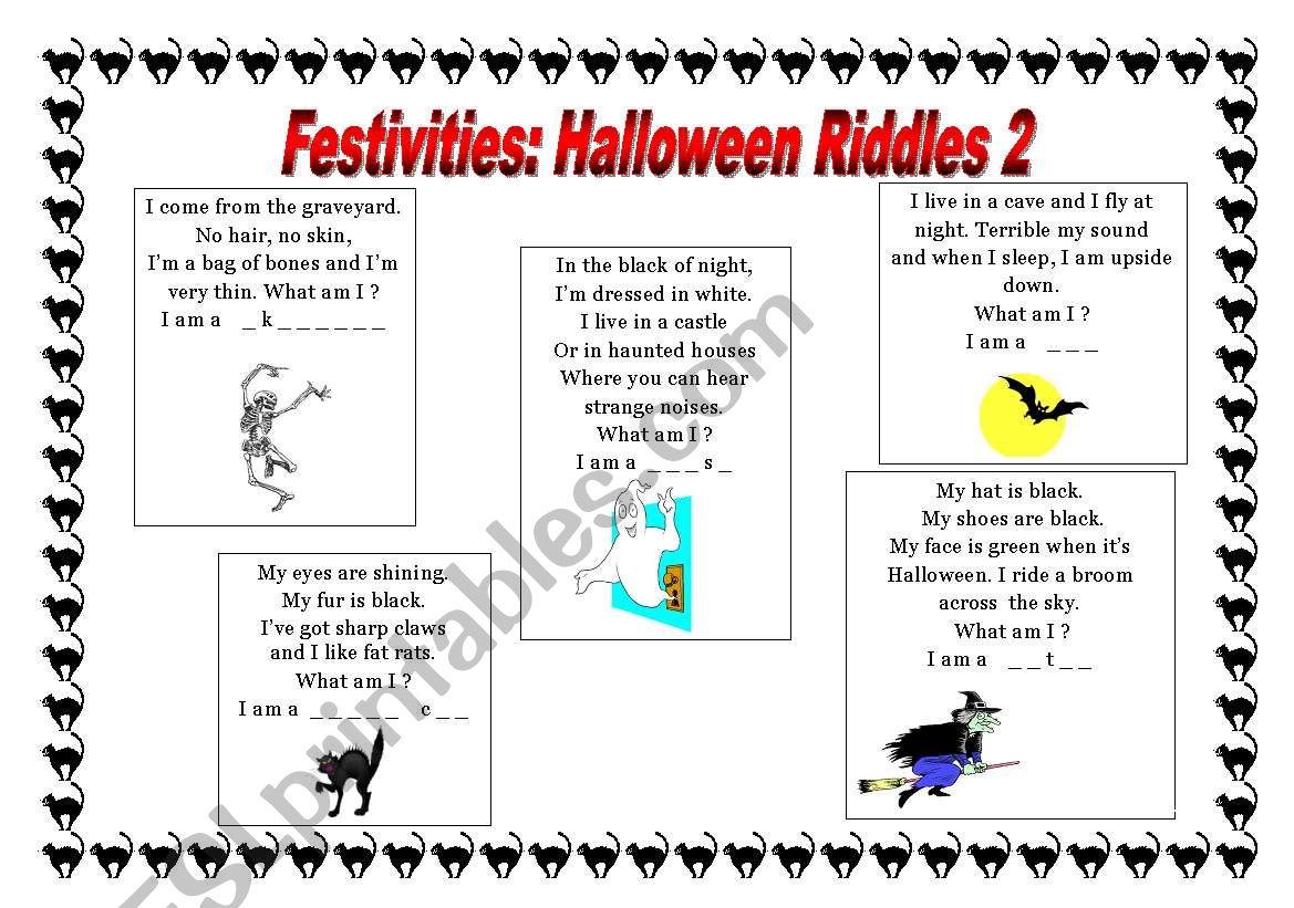 Halloween Riddles 2