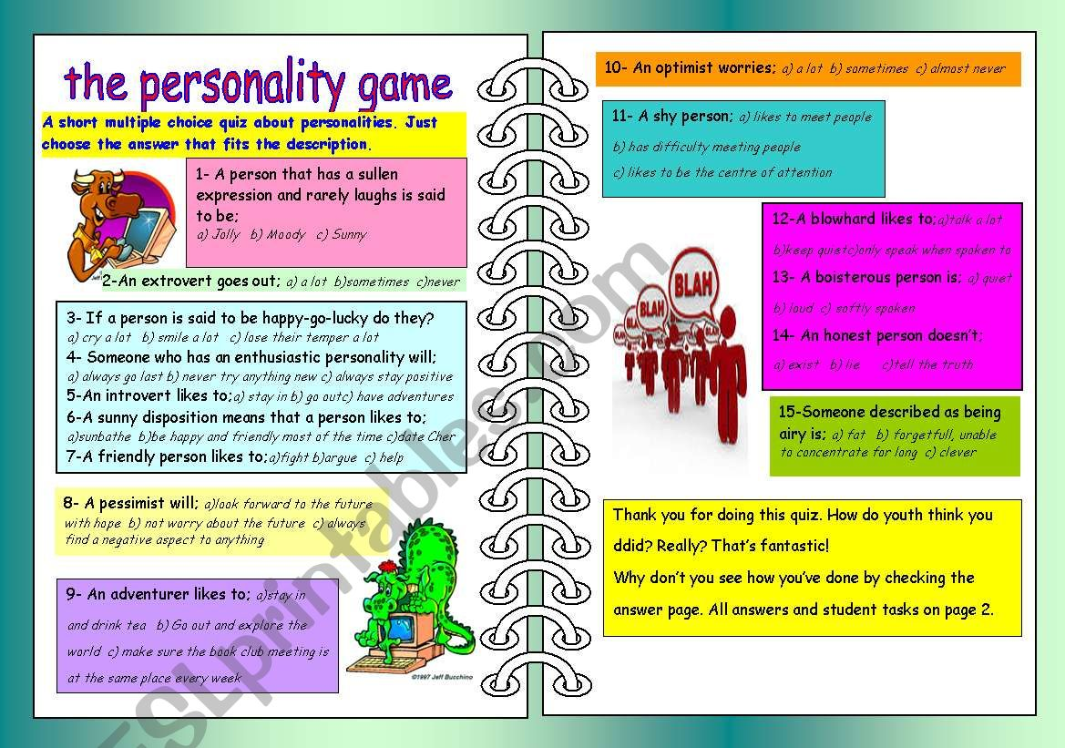 The Personality Game