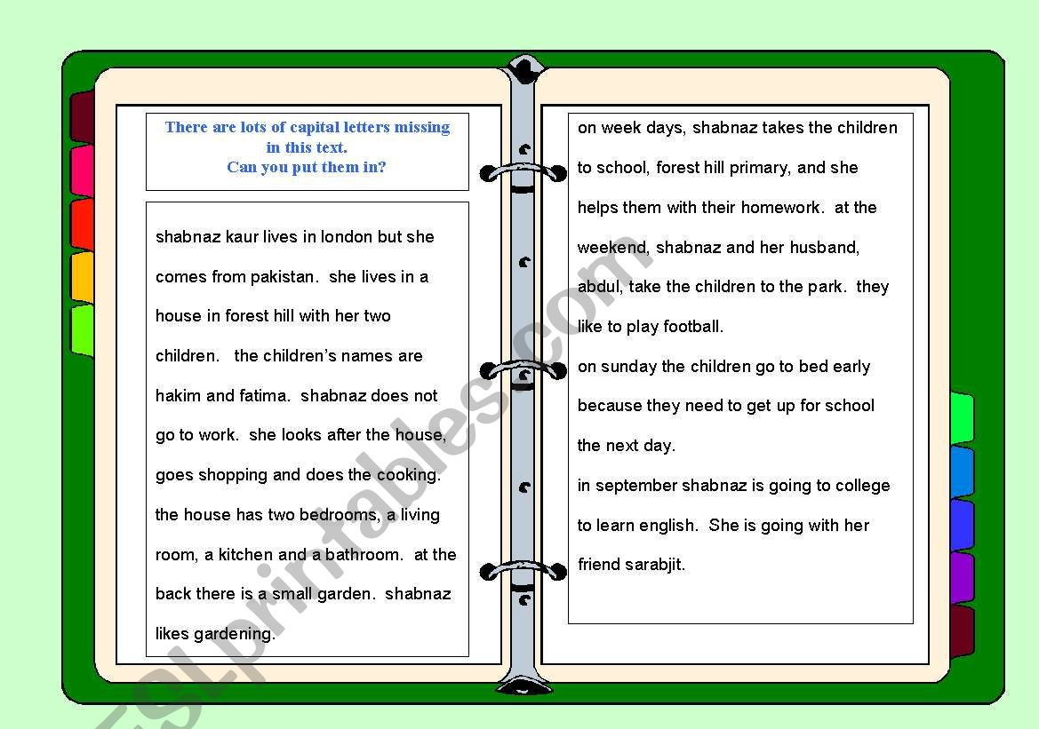 Capital Letters Questions And Gap Fill Worksheets