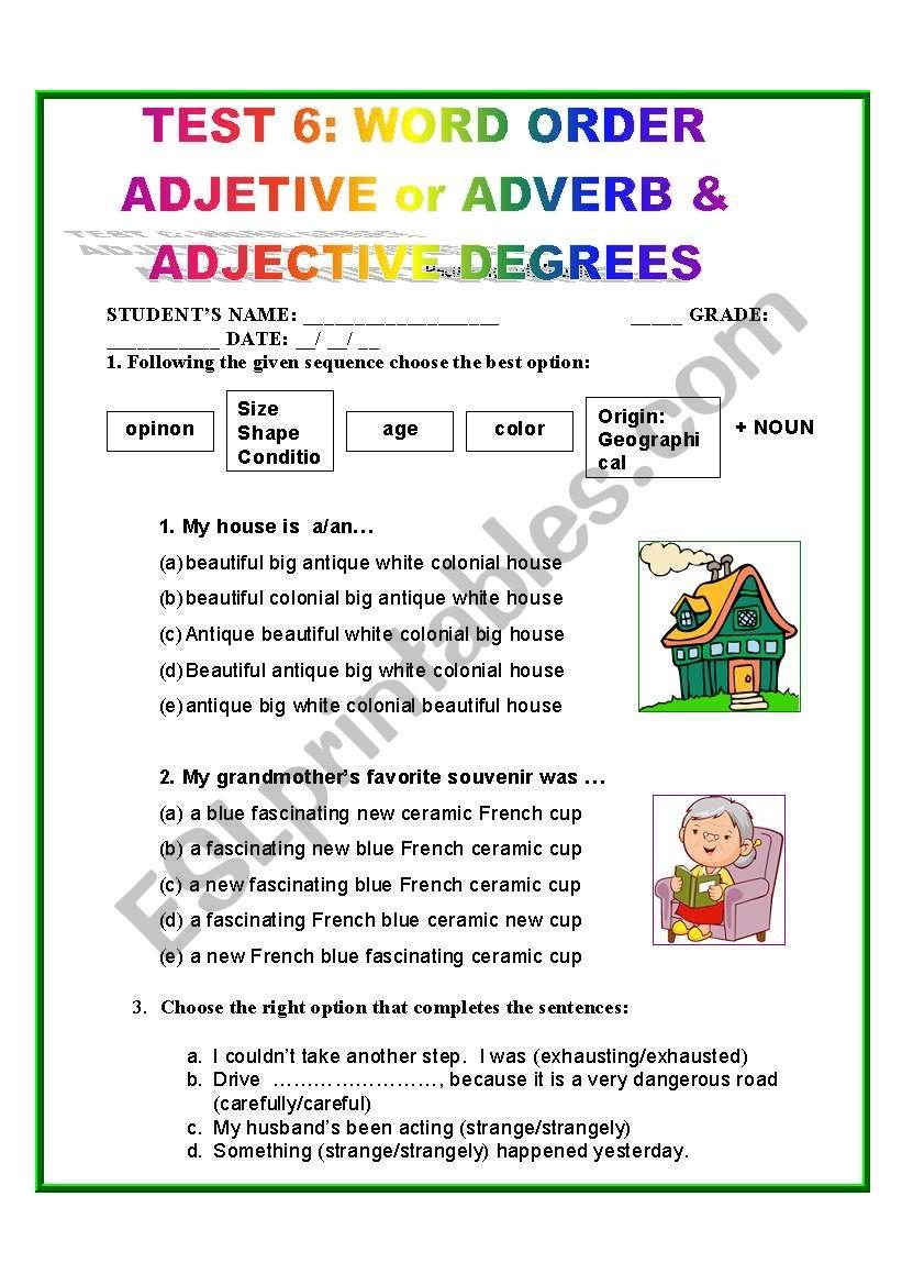 medium resolution of TEST 6: WORD ORDER