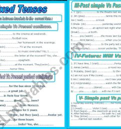 English Mixed Tenses Worksheets   Printable Worksheets and Activities for  Teachers [ 821 x 1169 Pixel ]