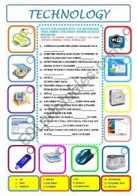 English worksheets: TECHNOLOGY
