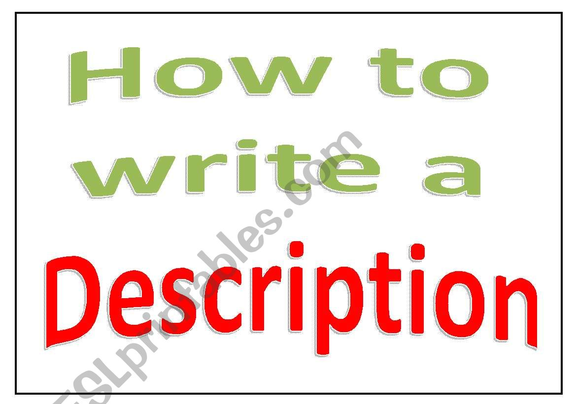Display Charts How To Write A Description