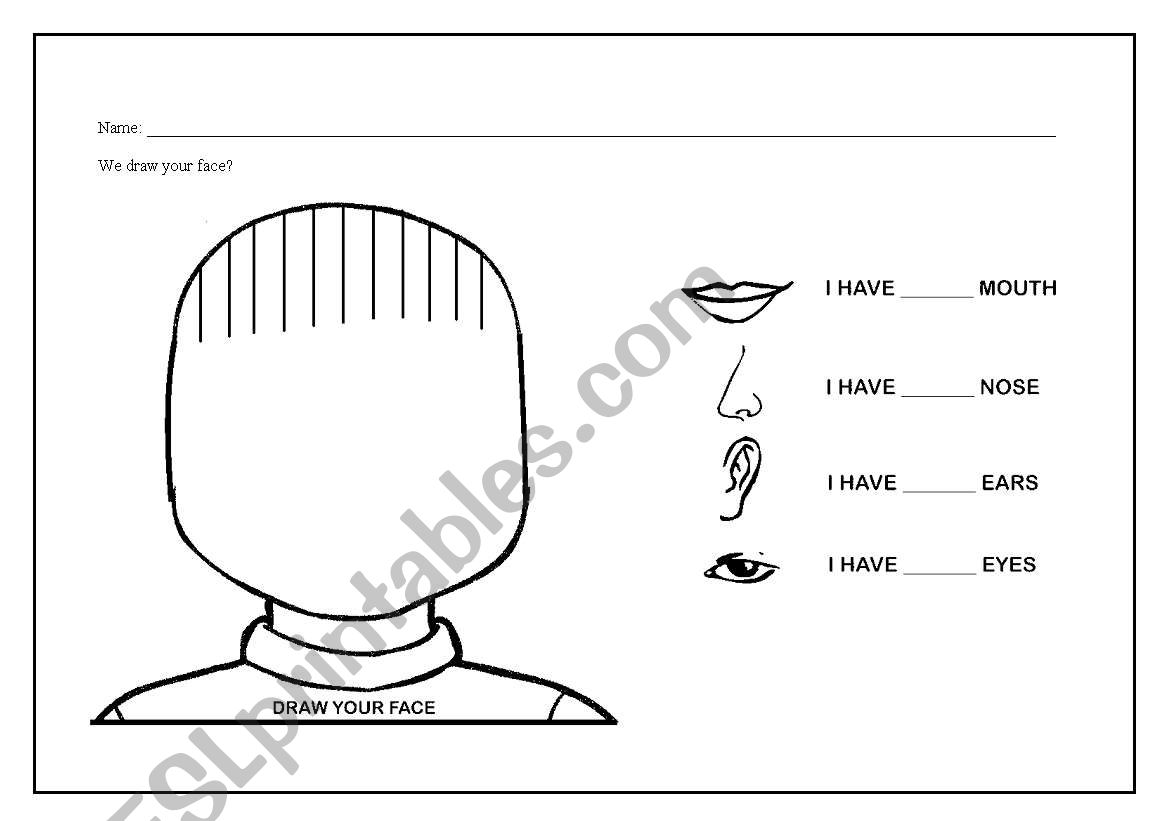 Worksheet Draw Your Hair