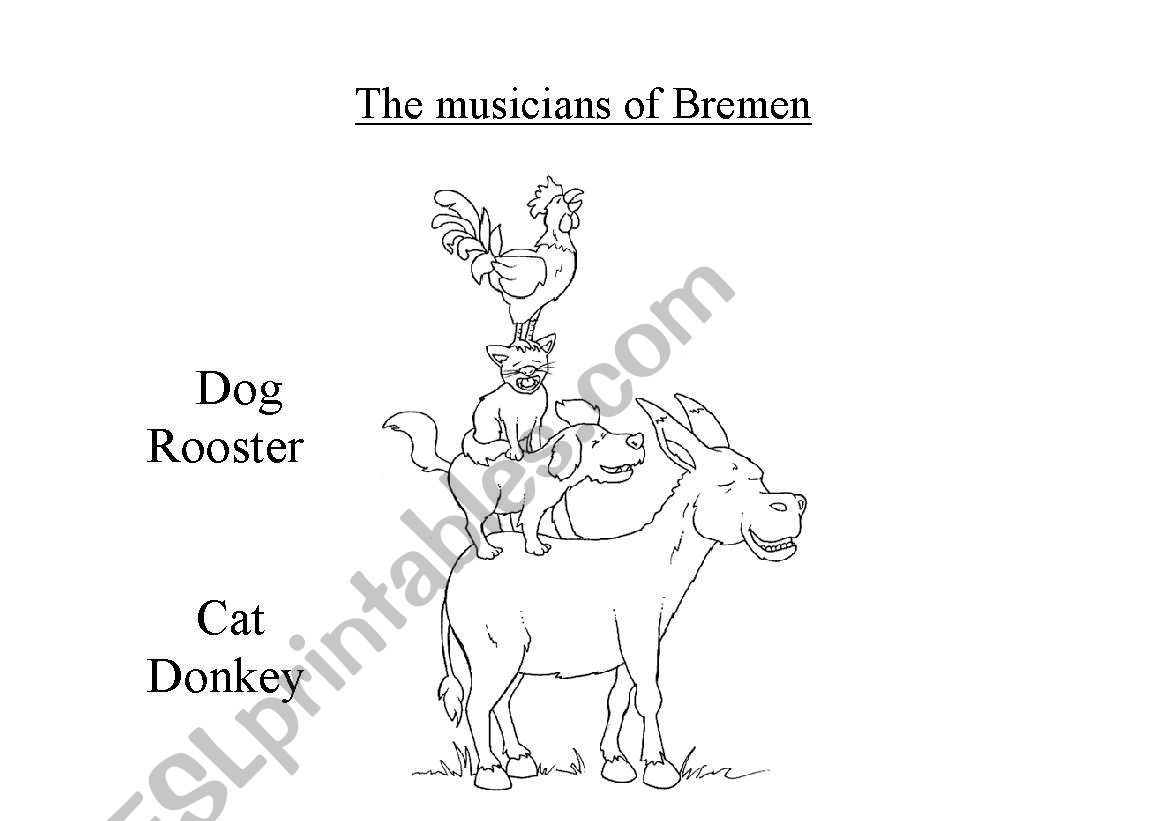 English worksheets: the musicians of bremen