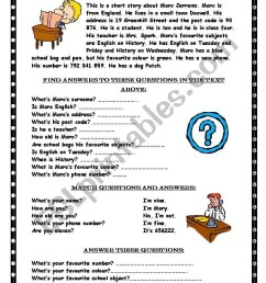 Reading comprehension / Wh-questions - ESL worksheet by Marywell [ 1169 x 821 Pixel ]