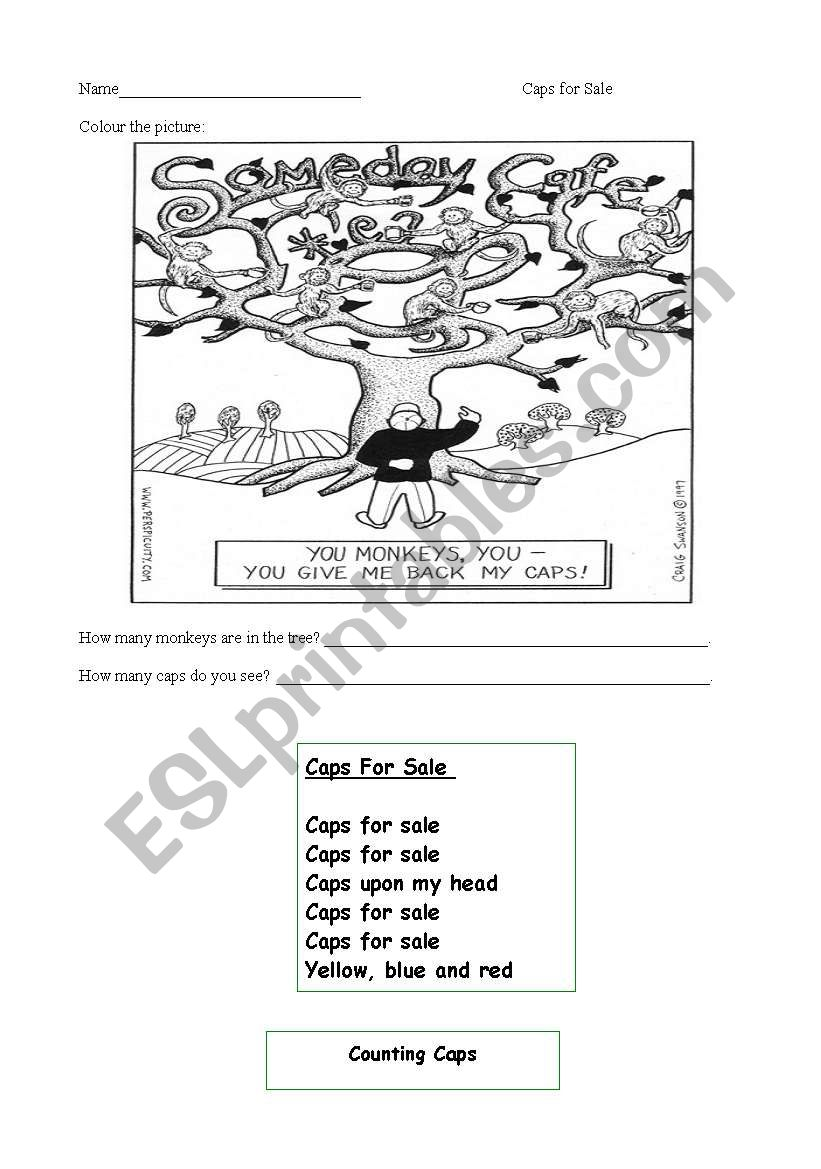 English worksheets: Caps for Sale