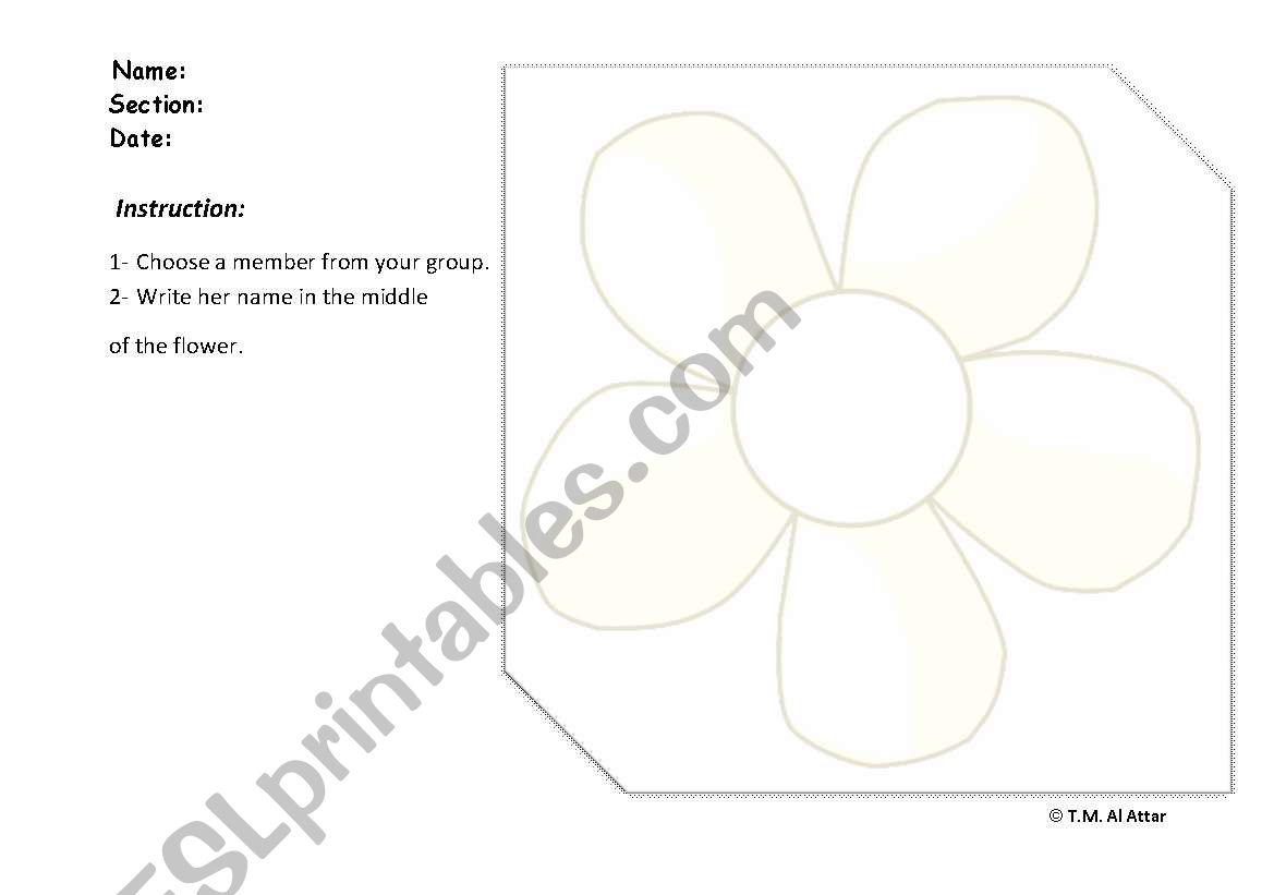 English Worksheets Adjectives Of Color And Shape