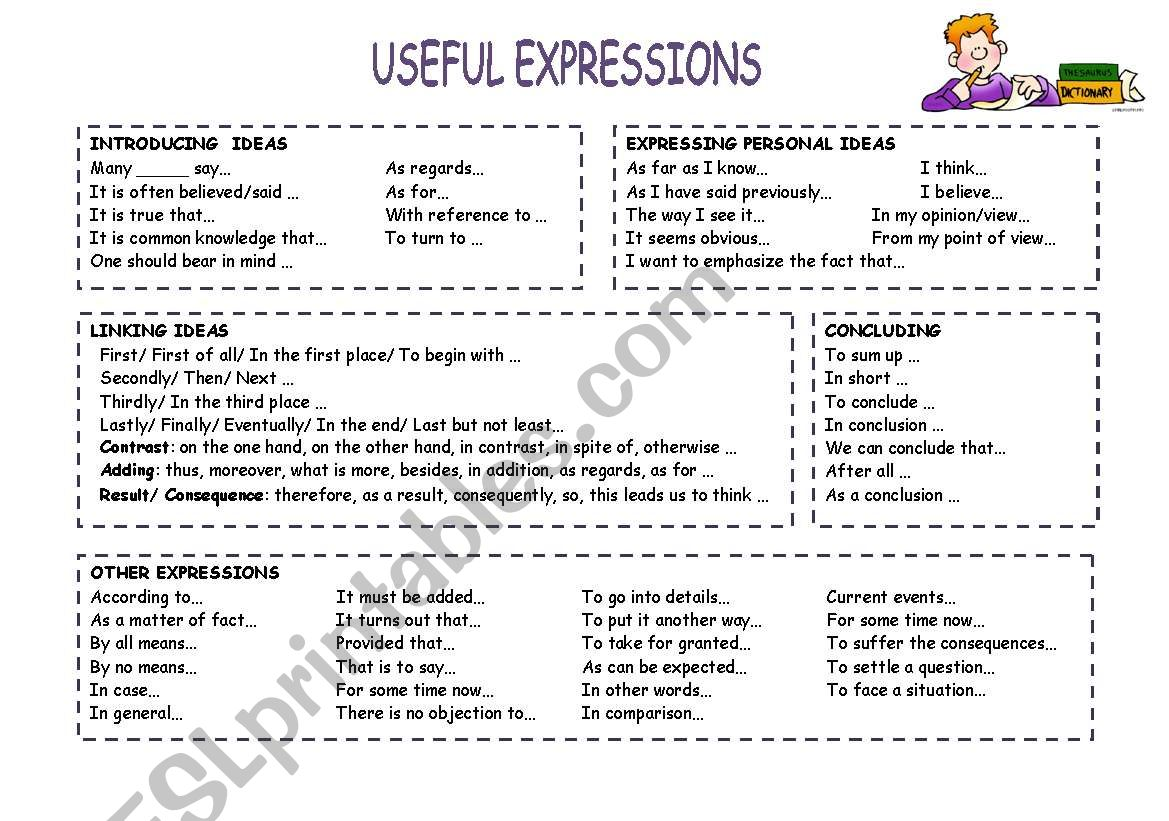 Useful Expressions For Essays