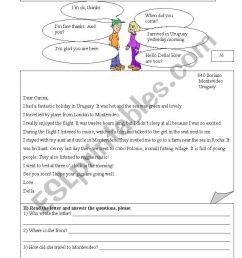 Diagnostic Test for 3rd grade highschool - ESL worksheet by Sandra Torres [ 1169 x 821 Pixel ]