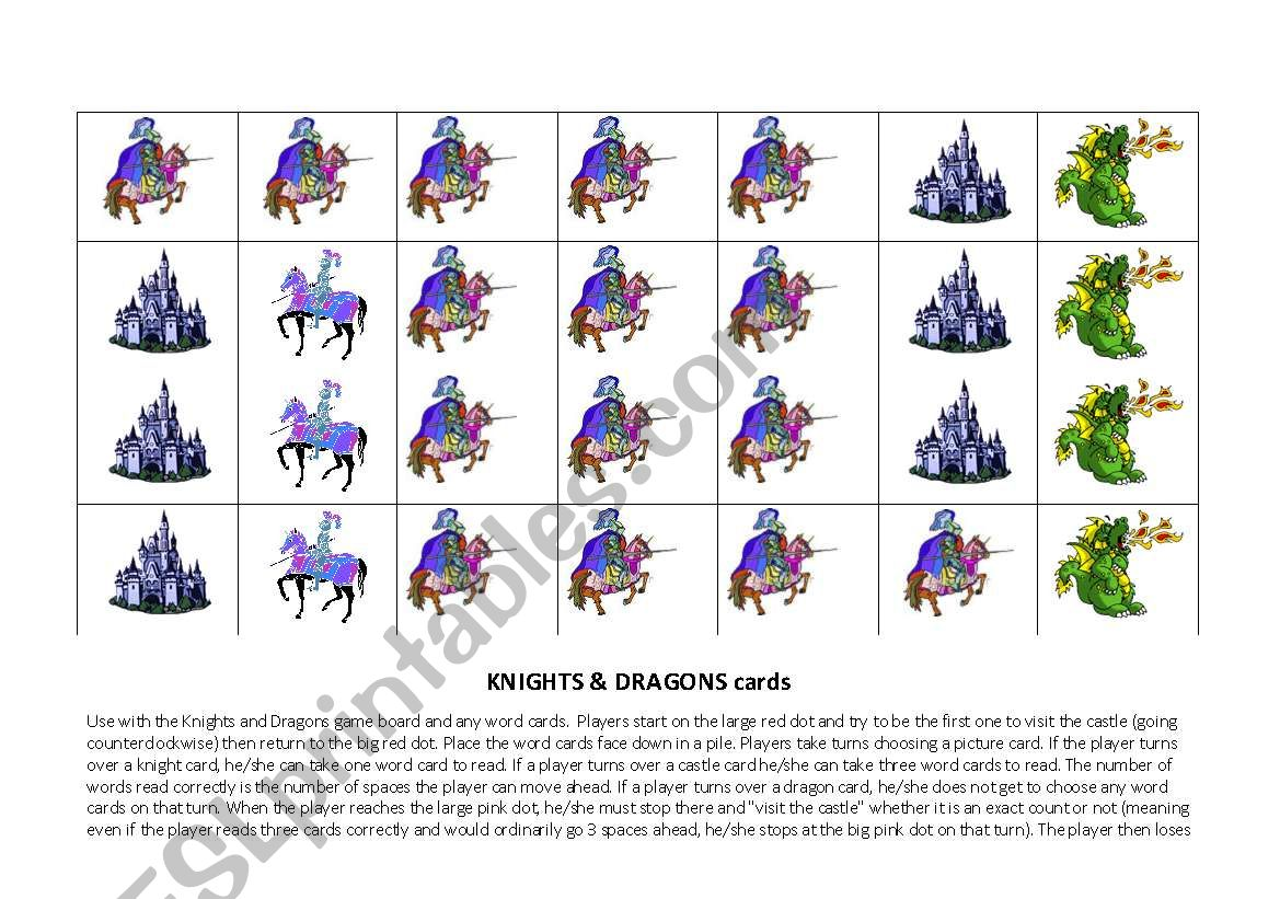 Knights And Dragons Cards