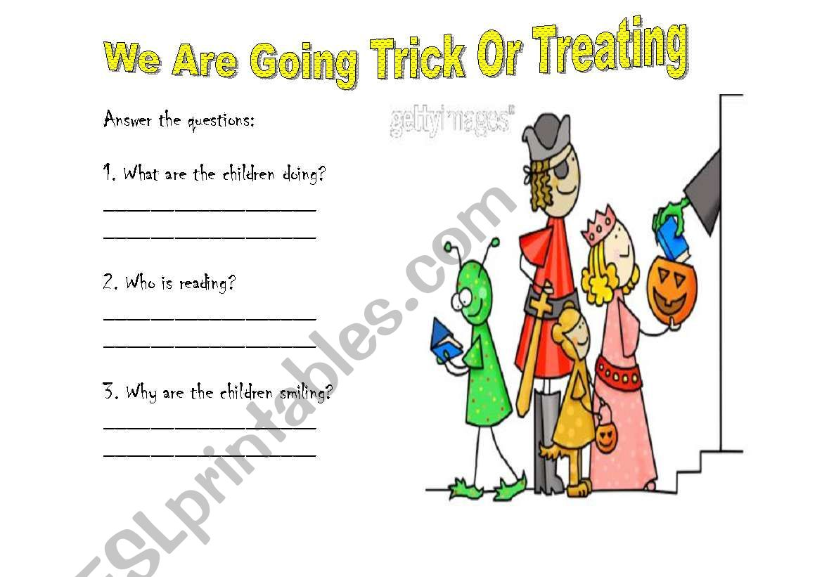 We Are Going Trick Or Treating