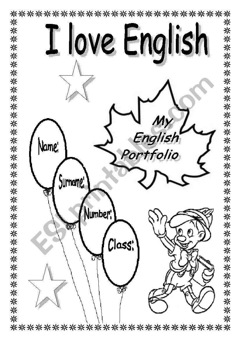 My English Portfolio ESL Worksheet By Xyz5
